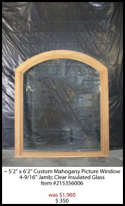 Custom Mahogany Picture window - Southeastern Door and Window - Biloxi MS - (228) 396-0077